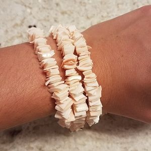 Jewelry - Set of 3 Puka Shell Bracelets